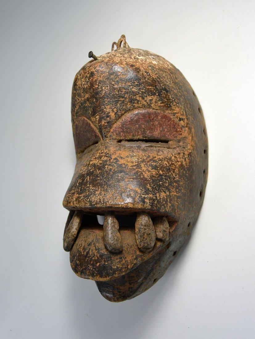 Fierce Dan mask with Large teeth, African Art - 2