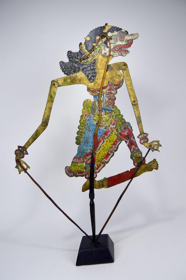 Goddess Durga Antique Wayang Kulit Shadow Puppet