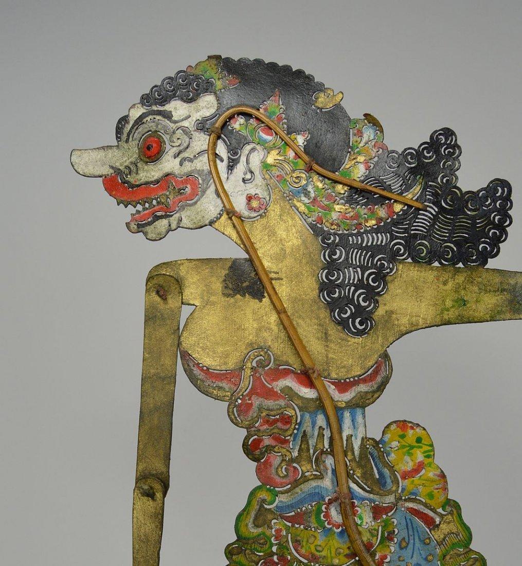 Goddess Durga Antique Wayang Kulit Shadow Puppet - 2