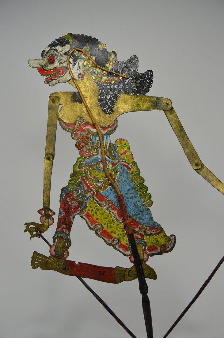 Goddess Durga Antique Wayang Kulit Shadow Puppet - 3