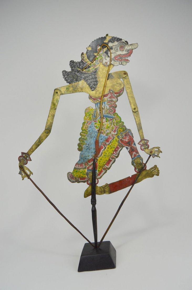 Goddess Durga Antique Wayang Kulit Shadow Puppet - 4
