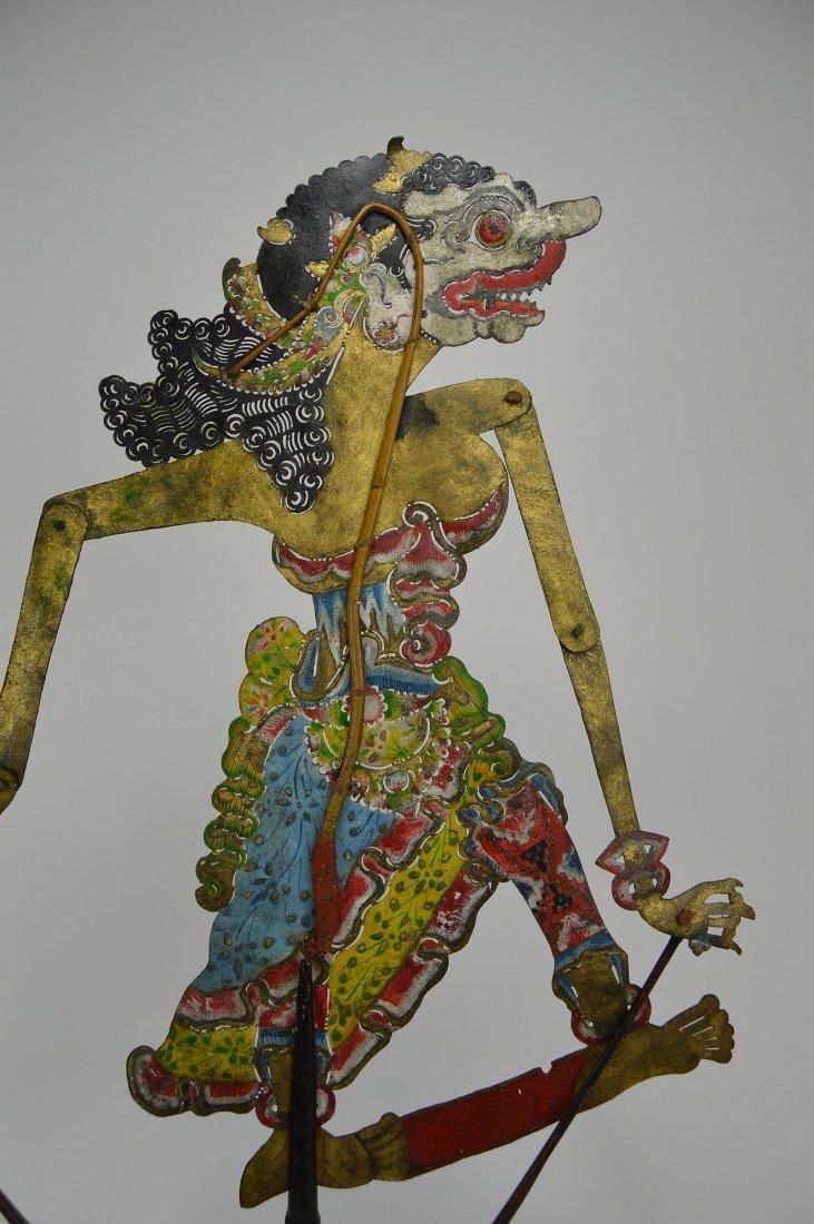 Goddess Durga Antique Wayang Kulit Shadow Puppet - 5