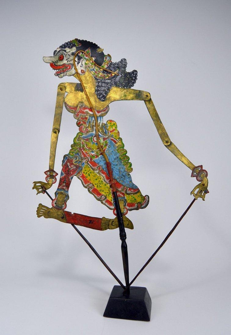 Goddess Durga Antique Wayang Kulit Shadow Puppet - 6