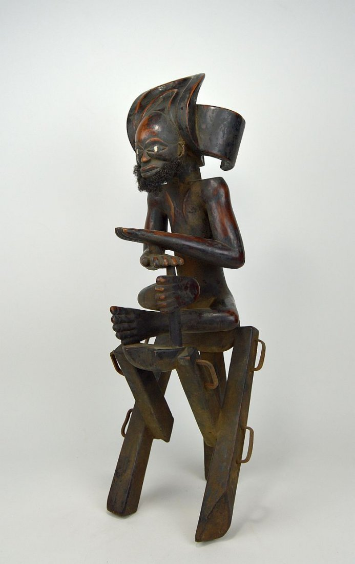 Chokwe Chibunda Ilunga Seated Figure African Art