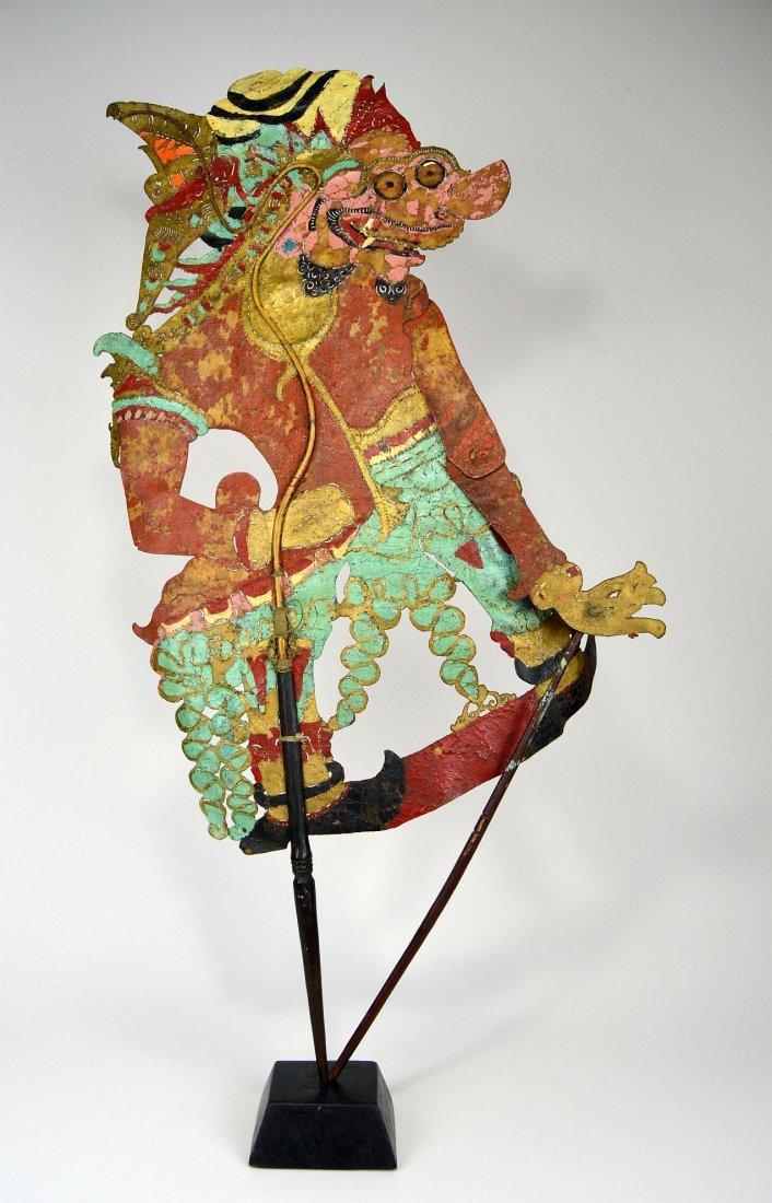 Large Antique Puppet of Rakshasa Demon Wayang Kulit