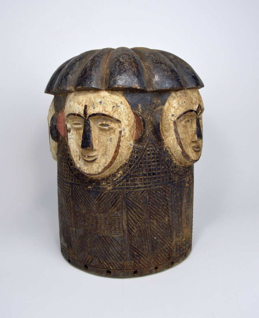 Fang helmet mask with 4 faces & Intricate designs