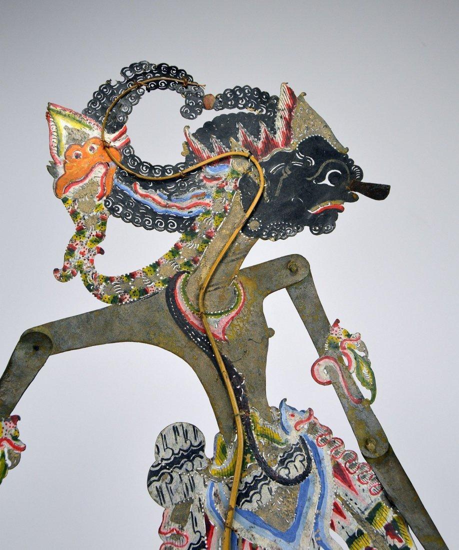 King Gatotkaca, Large Antique Shadow Puppet