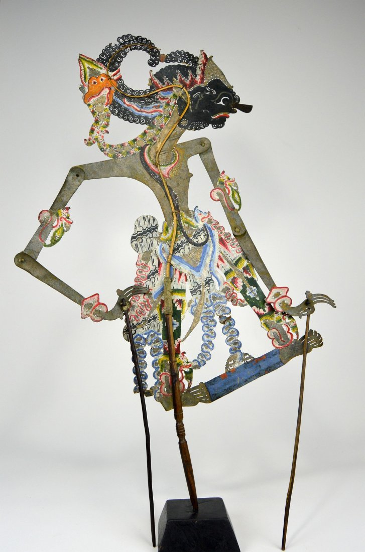 King Gatotkaca, Large Antique Shadow Puppet - 2
