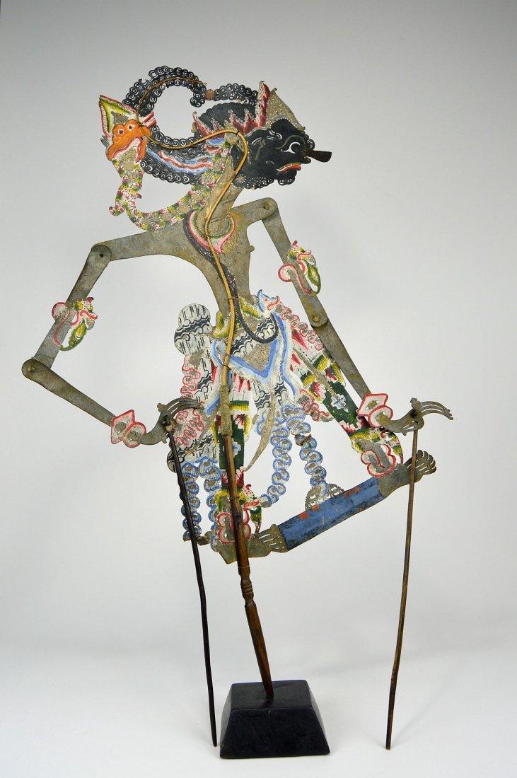 King Gatotkaca, Large Antique Shadow Puppet - 3