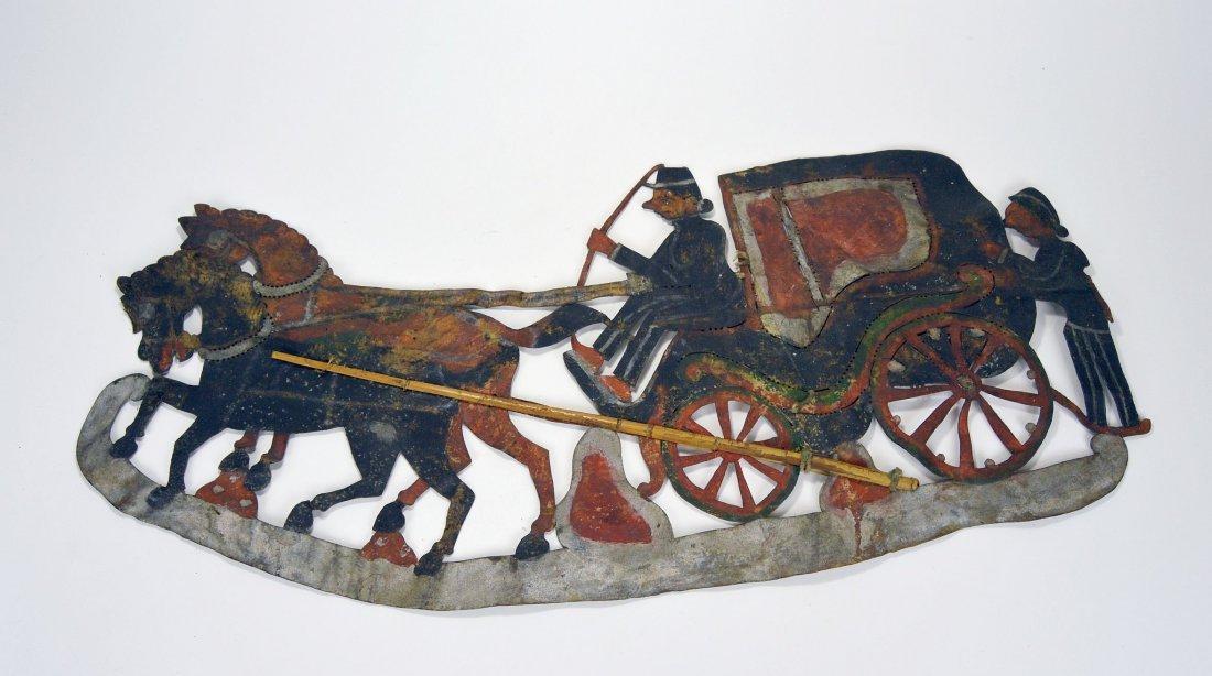 Rare Old Horse & Carriage Antique Wayang Kulit