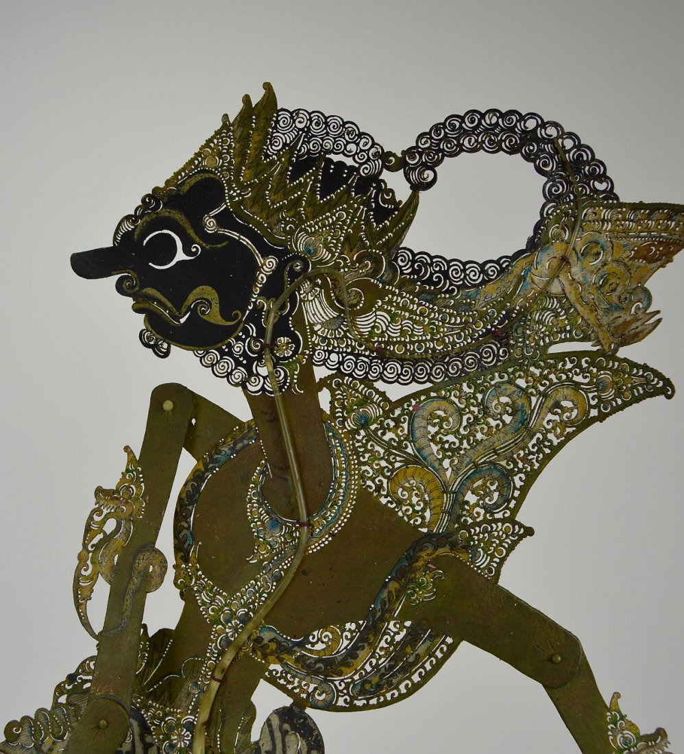 The King Gatokaca Antique Wayang Kulit