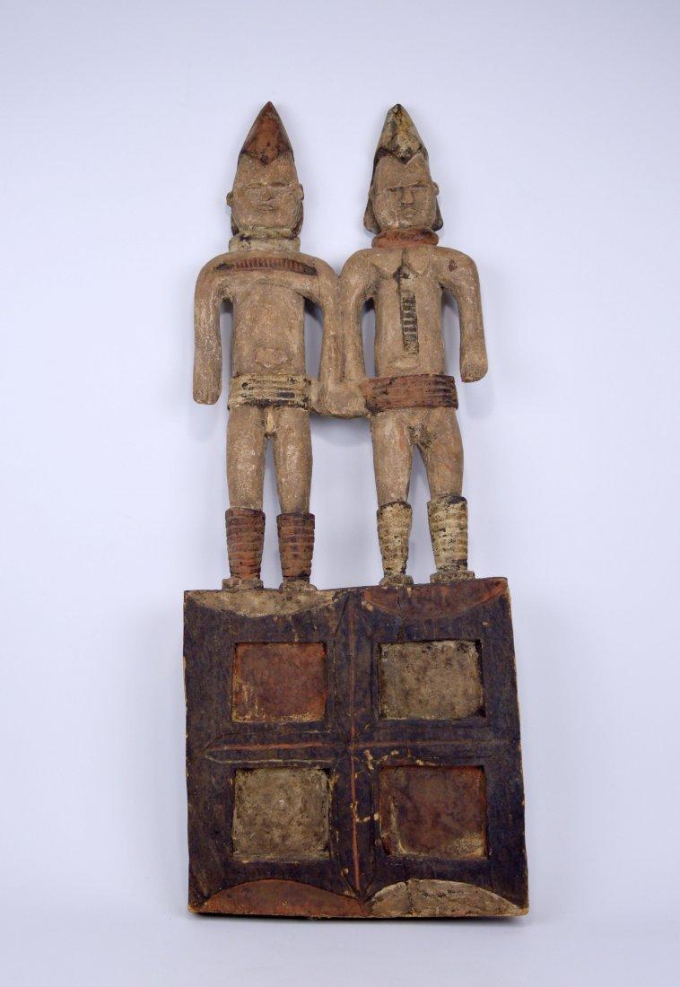 Large Igbo Male & Female panel, African Art