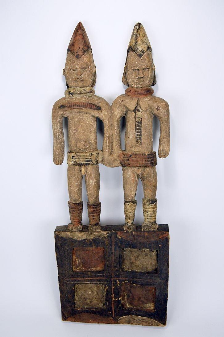 Large Igbo Male & Female panel, African Art - 2