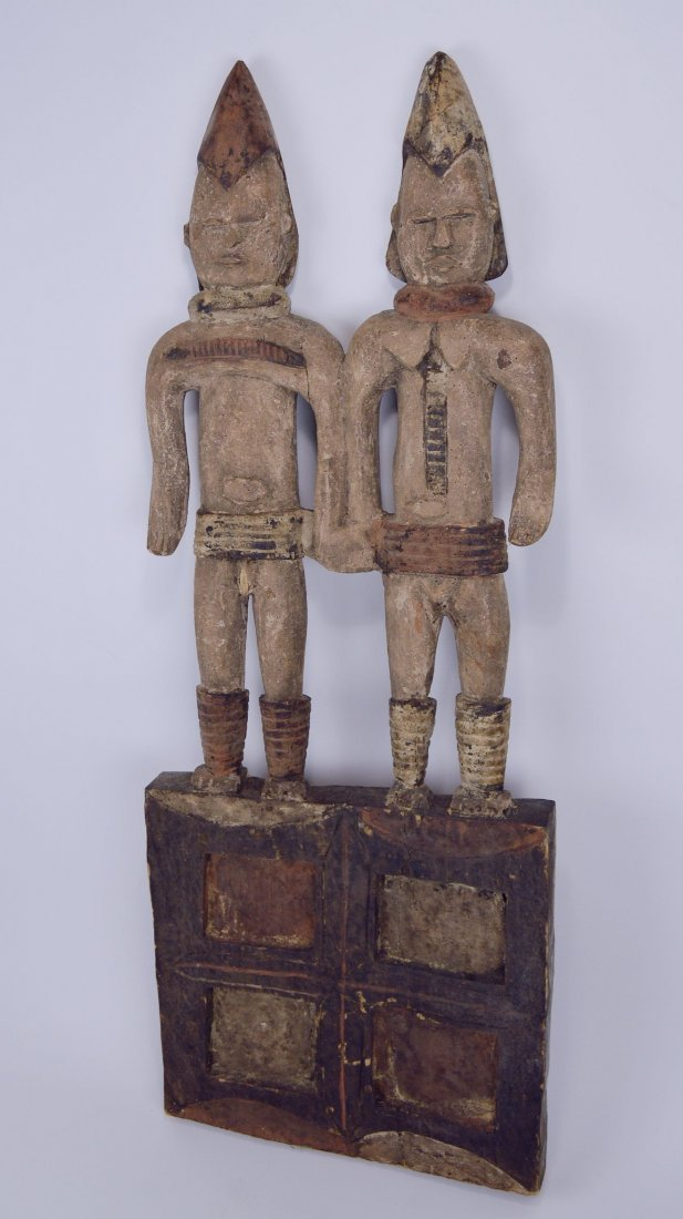 Large Igbo Male & Female panel, African Art - 3