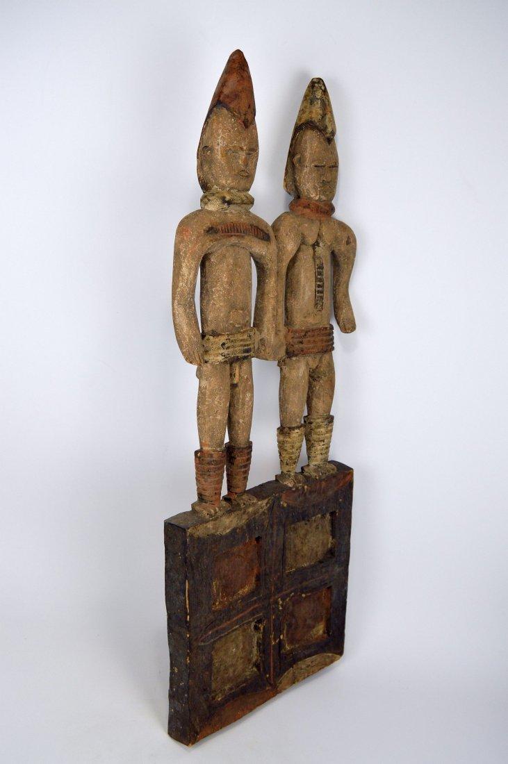Large Igbo Male & Female panel, African Art - 4