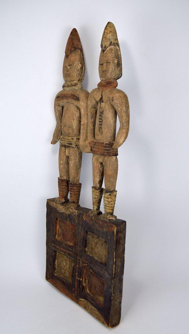 Large Igbo Male & Female panel, African Art - 6