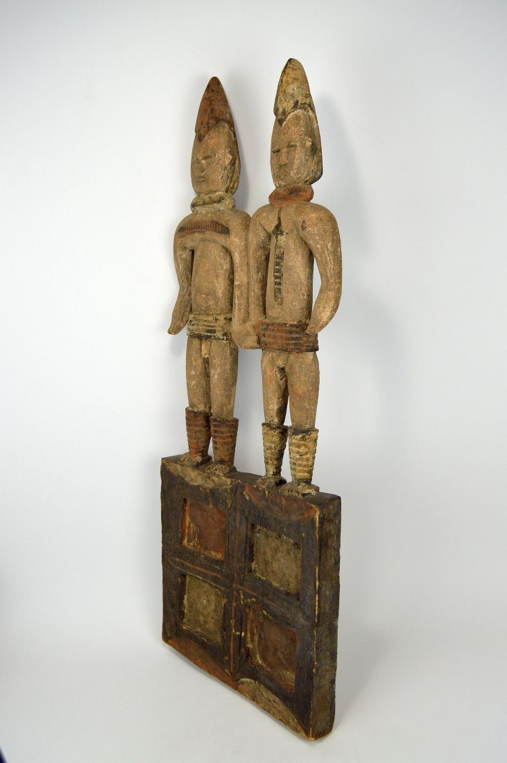 Large Igbo Male & Female panel, African Art - 7
