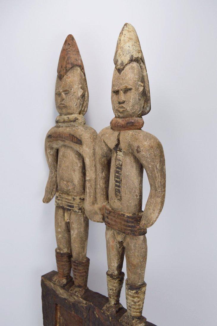 Large Igbo Male & Female panel, African Art - 8