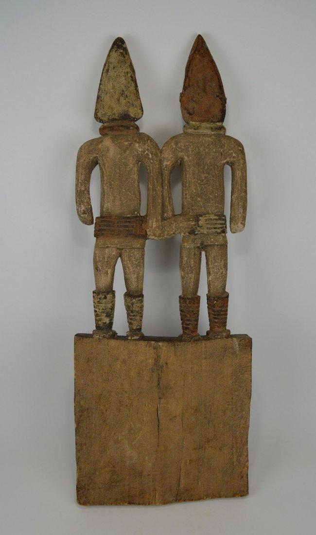 Large Igbo Male & Female panel, African Art - 9