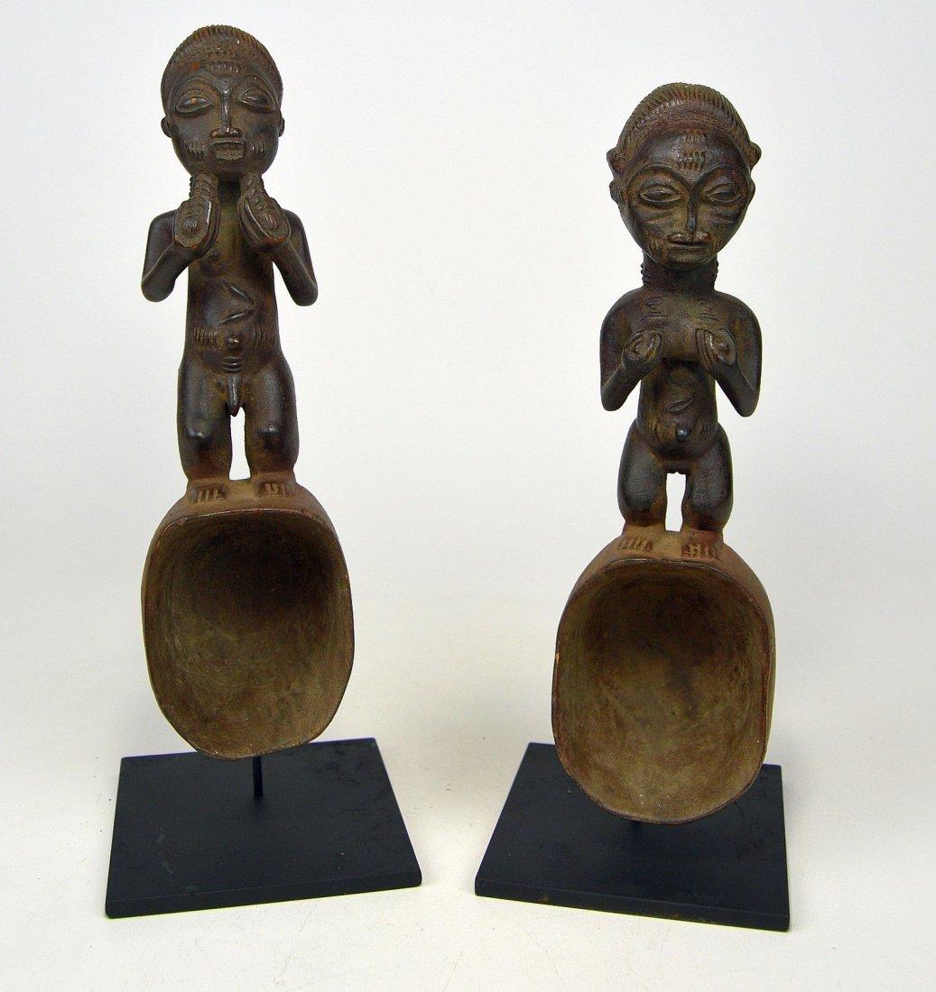 A pair of Baule ladles, African Art