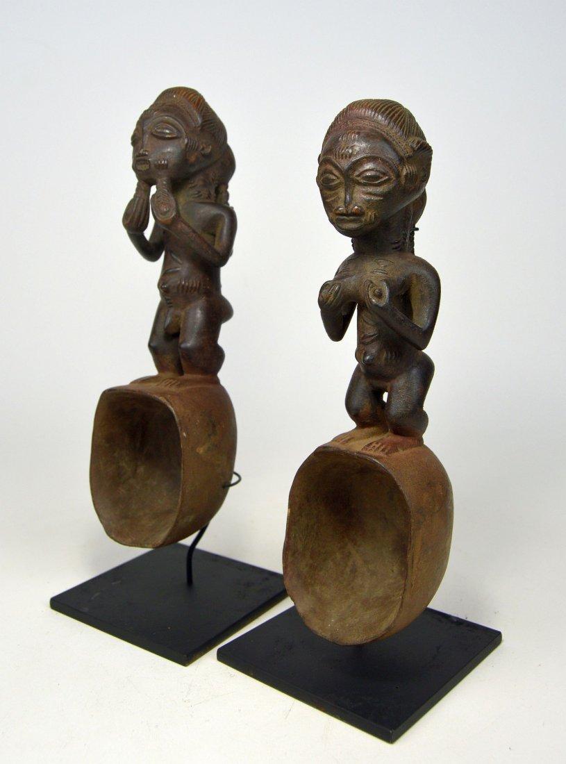 A pair of Baule ladles, African Art - 2