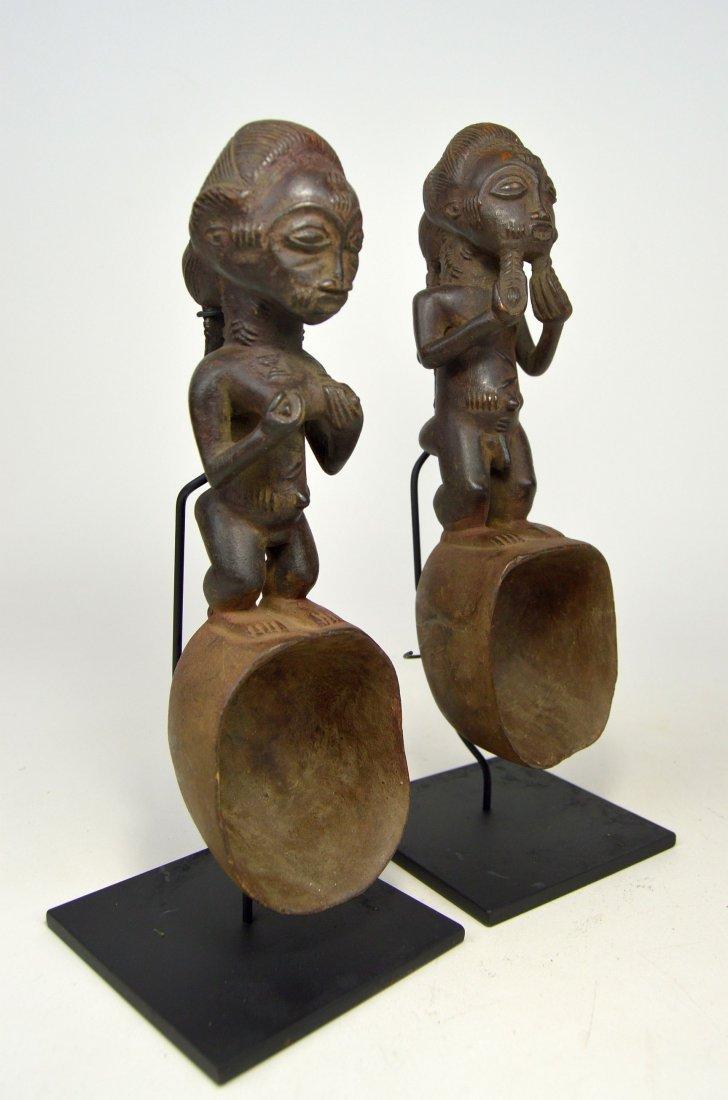 A pair of Baule ladles, African Art - 3