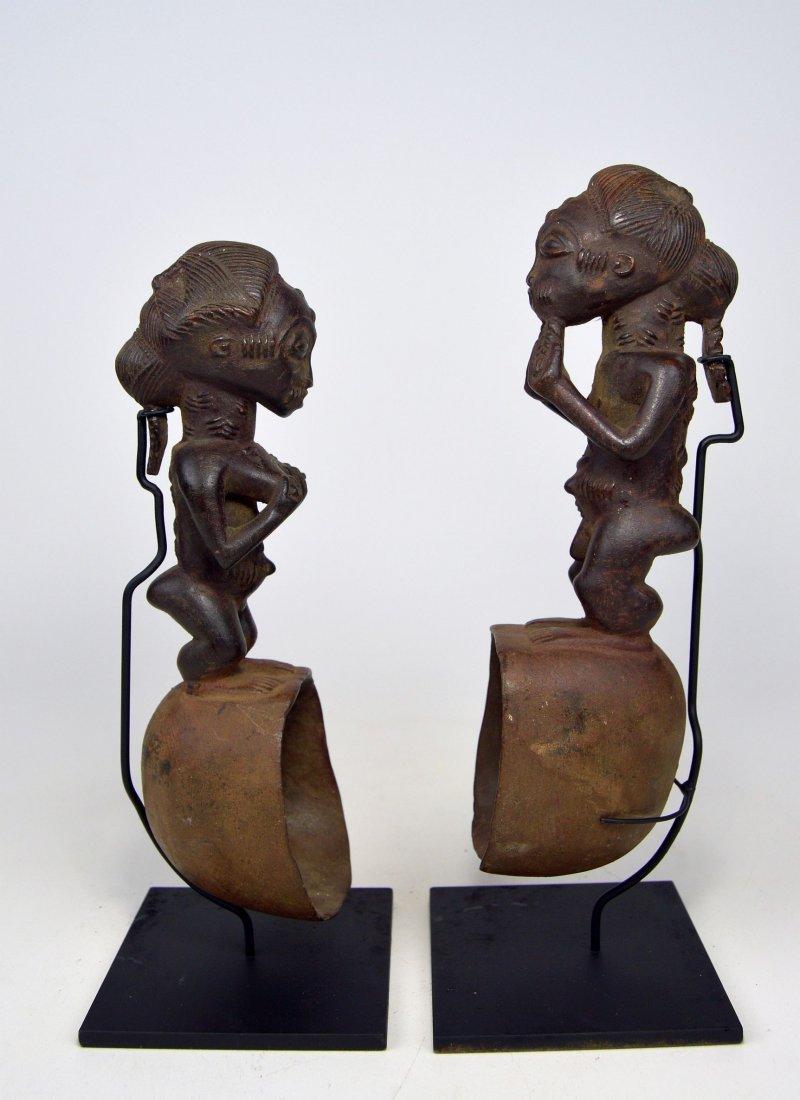 A pair of Baule ladles, African Art - 4
