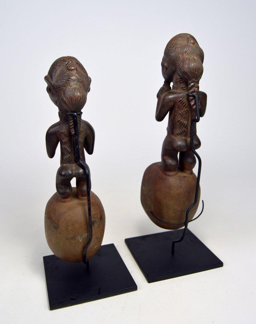 A pair of Baule ladles, African Art - 5