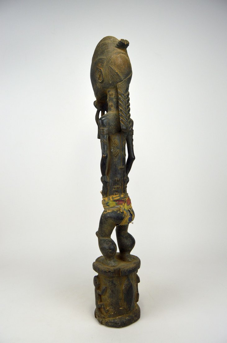 Tall ornately carved Baule Male sculpture - 5