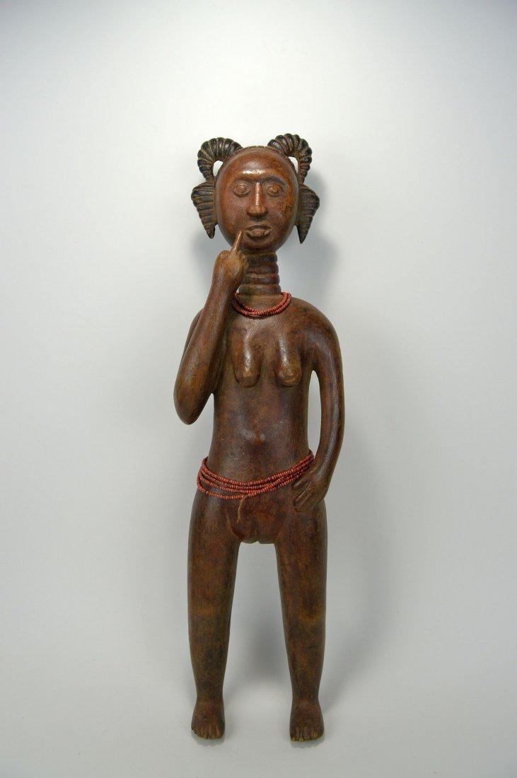 A Lovely Fanti Female sculpture, African Art