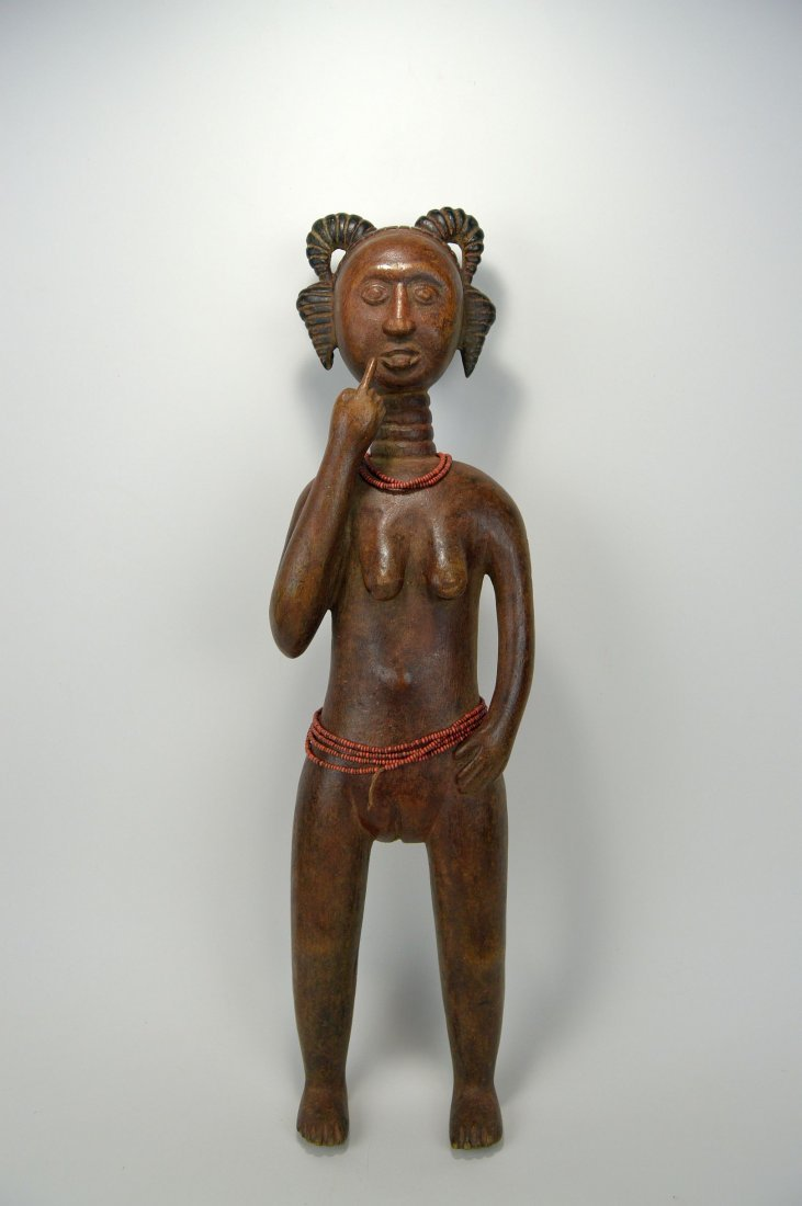 A Lovely Fanti Female sculpture, African Art