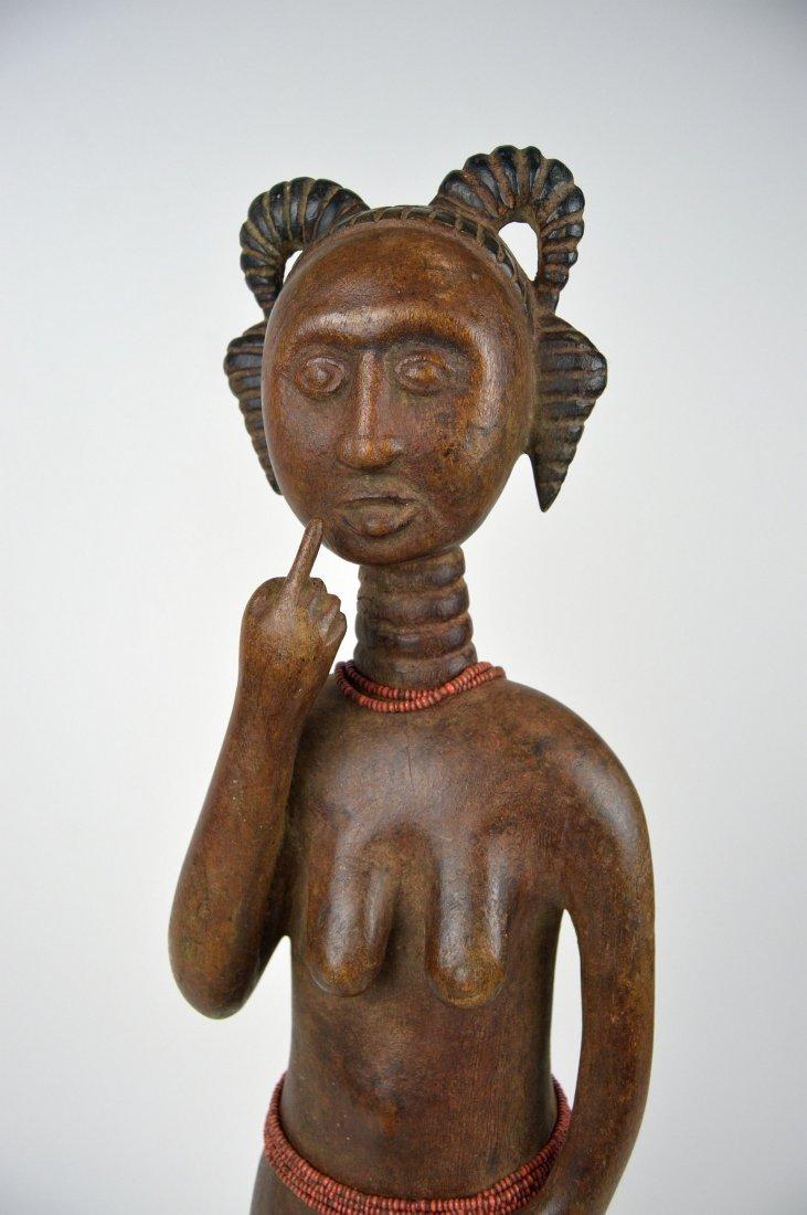 A Lovely Fanti Female sculpture, African Art - 2