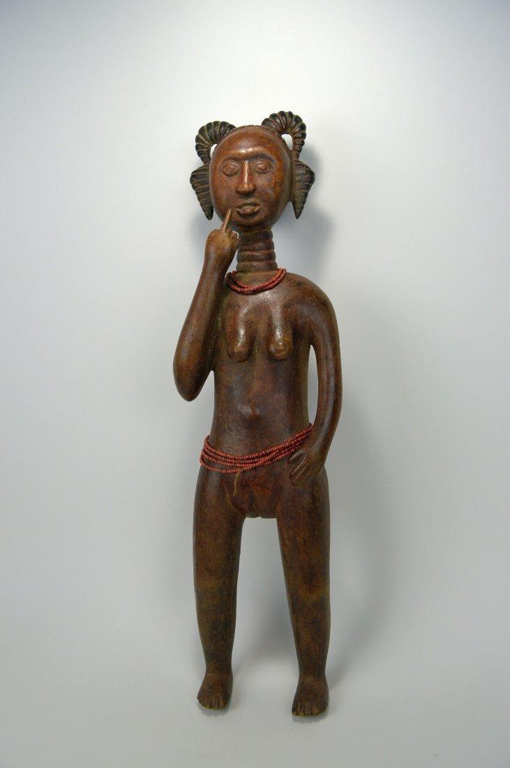 A Lovely Fanti Female sculpture, African Art - 3