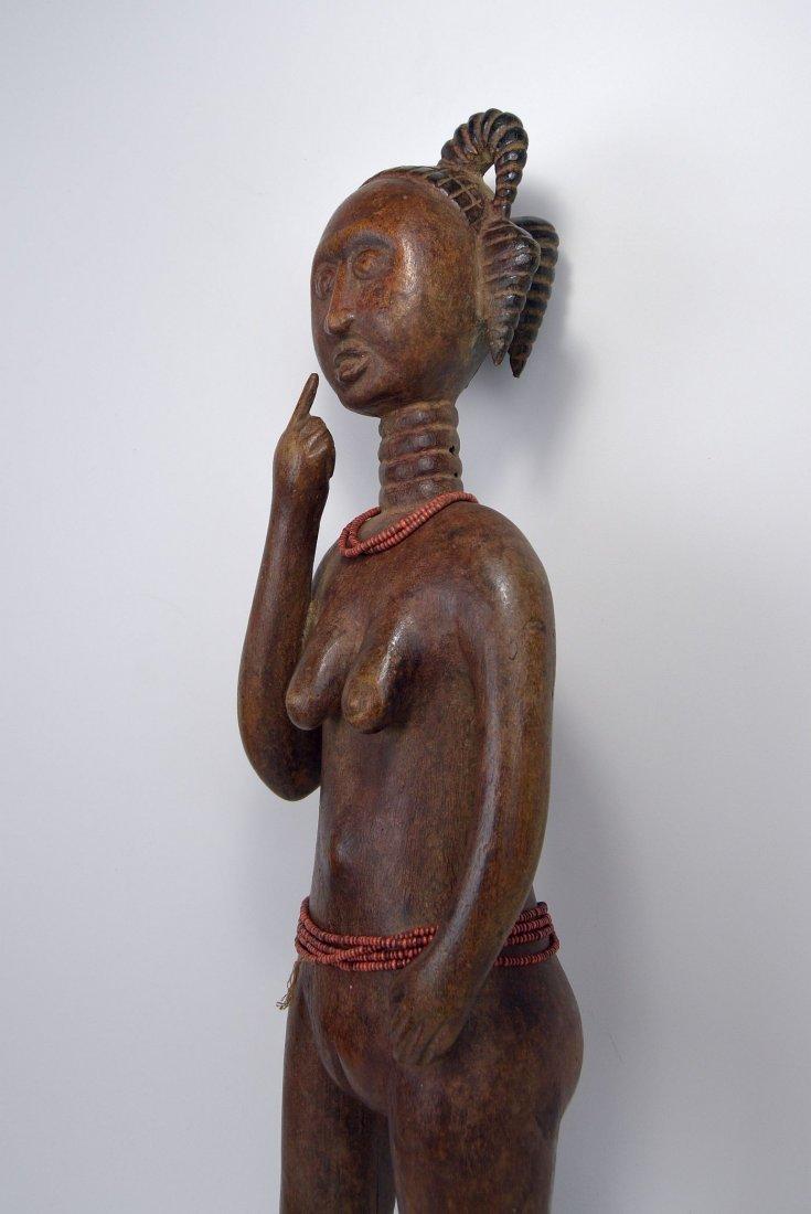 A Lovely Fanti Female sculpture, African Art - 4