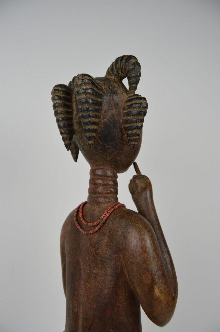 A Lovely Fanti Female sculpture, African Art - 5
