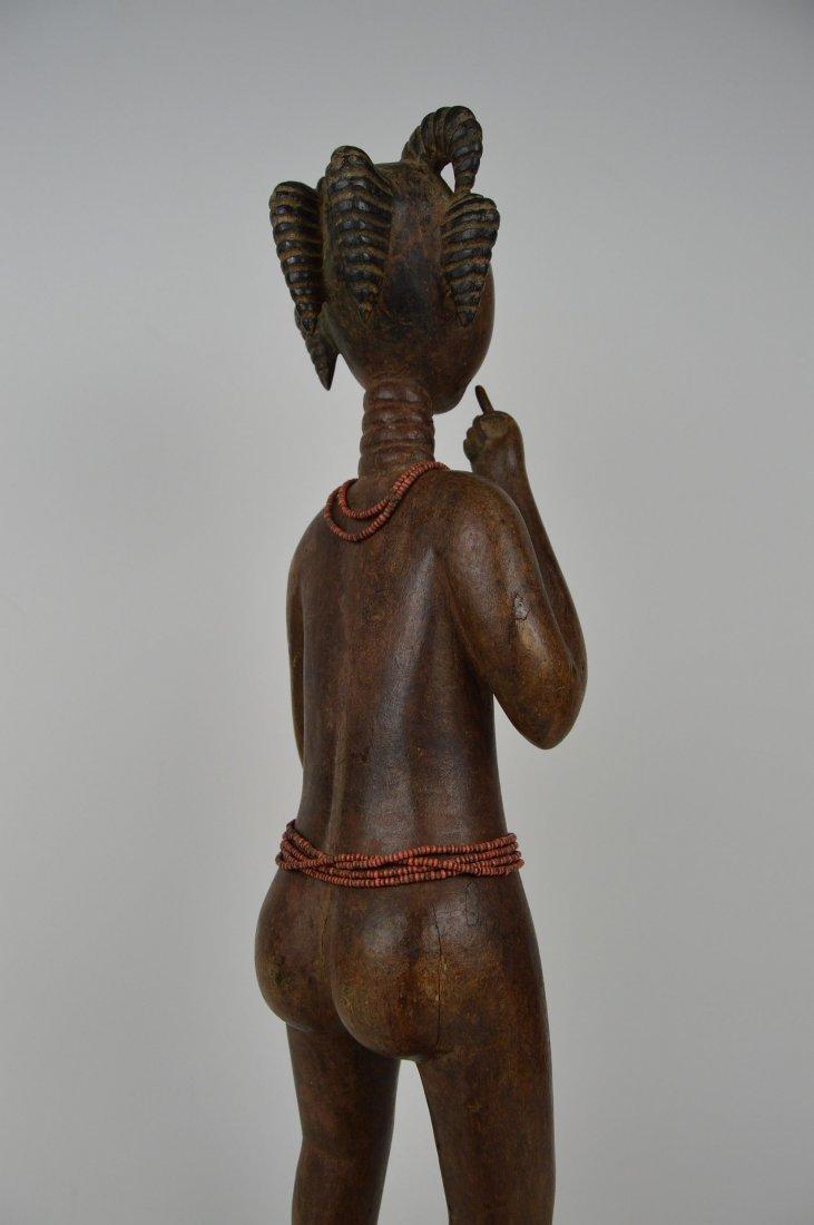 A Lovely Fanti Female sculpture, African Art - 6