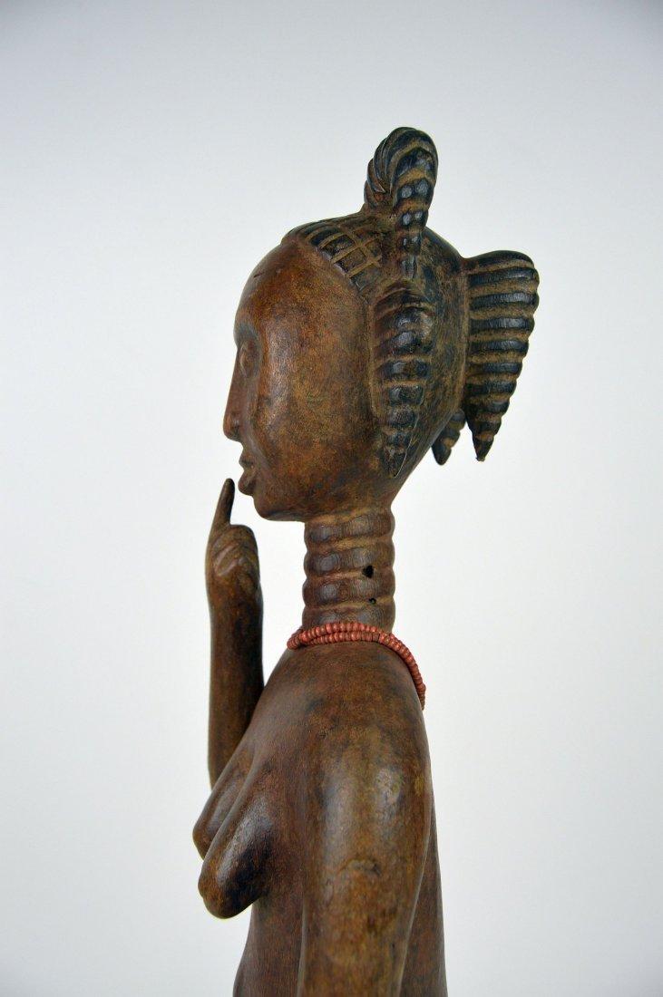A Lovely Fanti Female sculpture, African Art - 7
