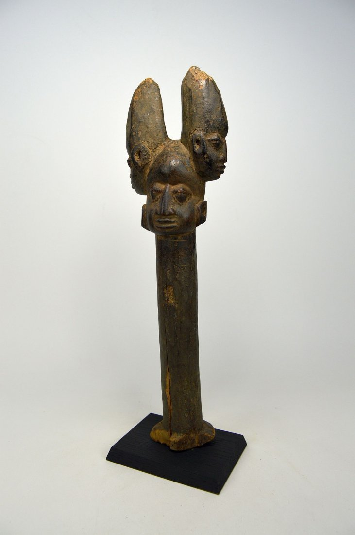A Fine old Yoruba Shango staff, African Art