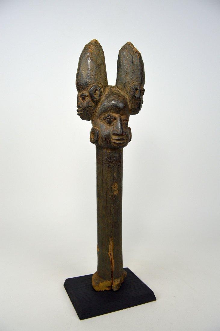 A Fine old Yoruba Shango staff, African Art - 2