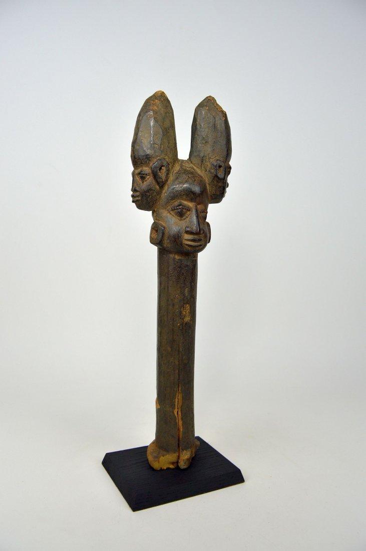 A Fine old Yoruba Shango staff, African Art - 3