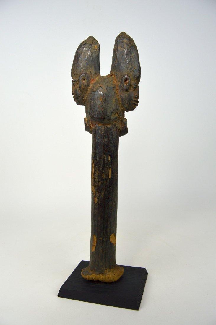 A Fine old Yoruba Shango staff, African Art - 5