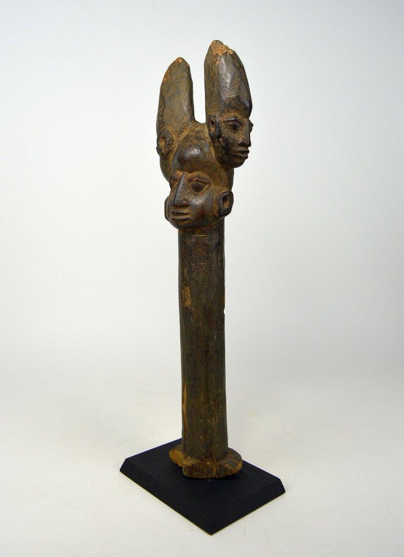 A Fine old Yoruba Shango staff, African Art - 6