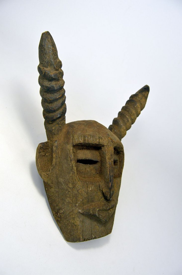 A Primitive Dogon Mask with horns, African Art