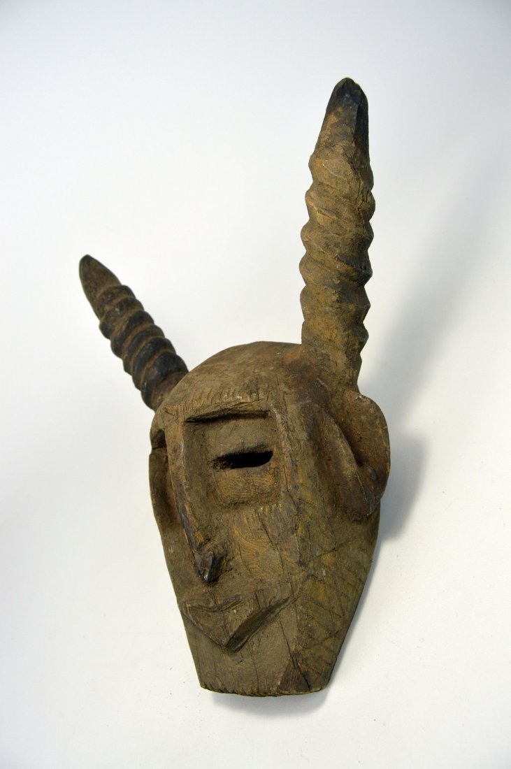 A Primitive Dogon Mask with horns, African Art - 2