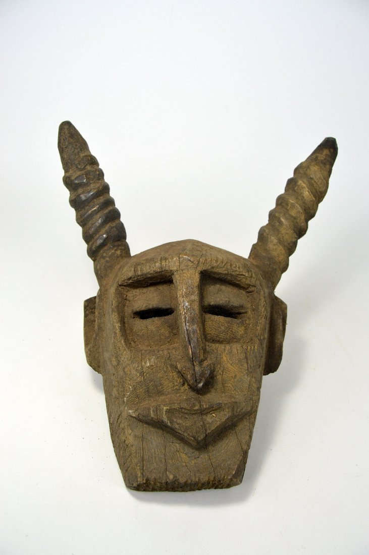 A Primitive Dogon Mask with horns, African Art - 3