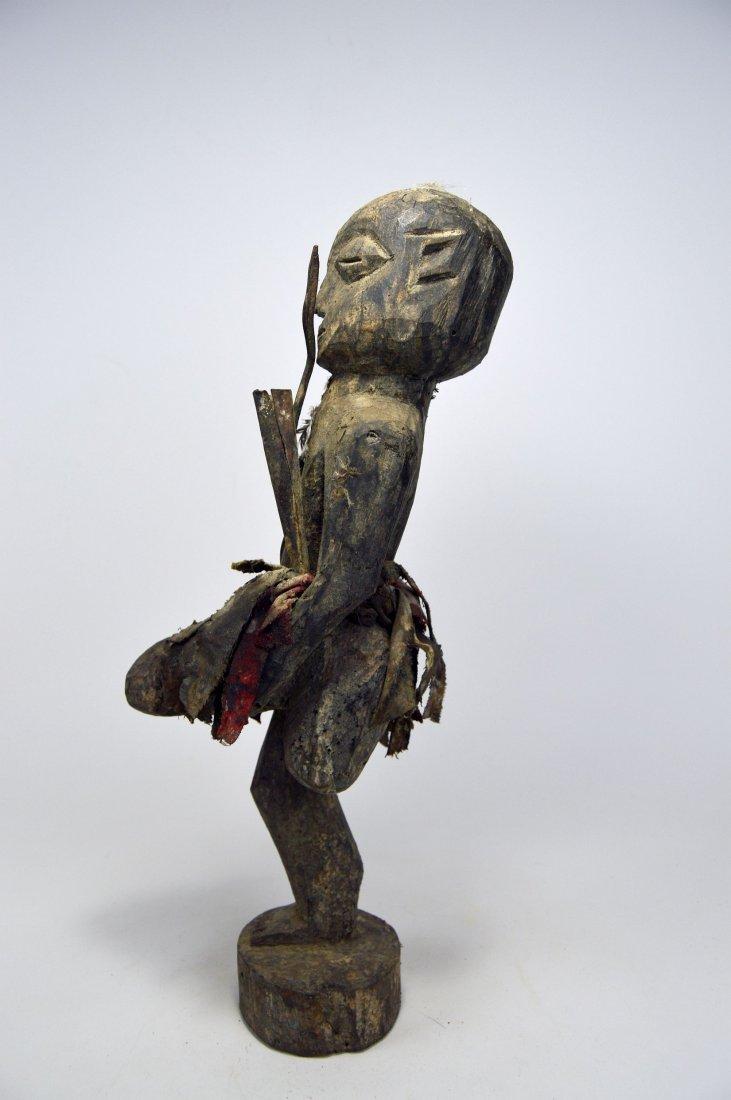 Ewe One legged fetish with erect phallus, African Art - 4