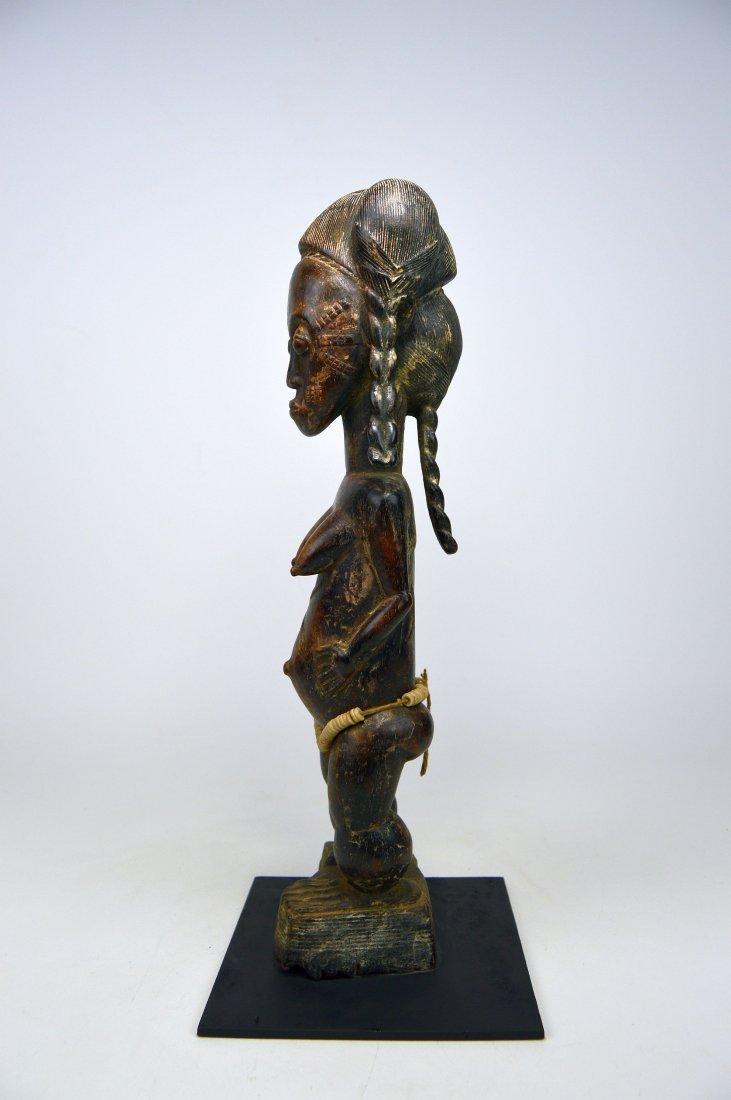 A Fine Baule female sculpture, African Art - 3
