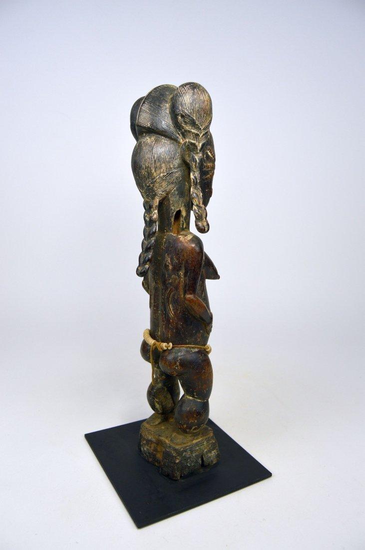 A Fine Baule female sculpture, African Art - 5