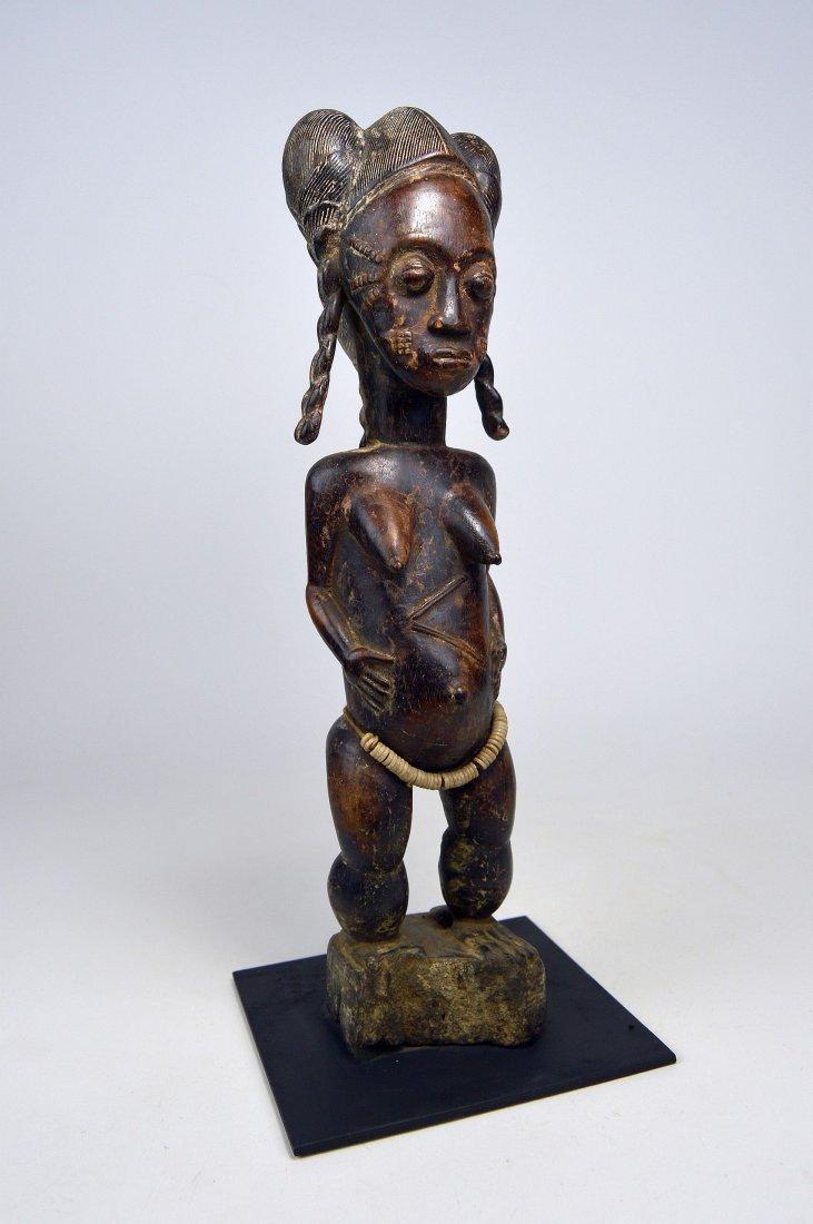 A Fine Baule female sculpture, African Art - 6