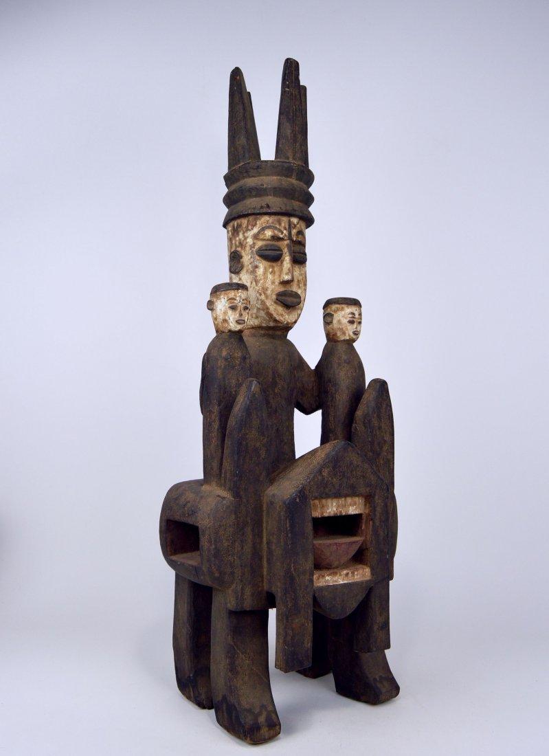 Rare Urhubo Aggression Shrine sculpture, African Art - 4